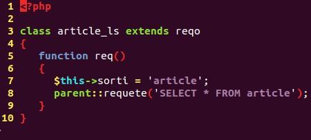 Code de la classe article_ls